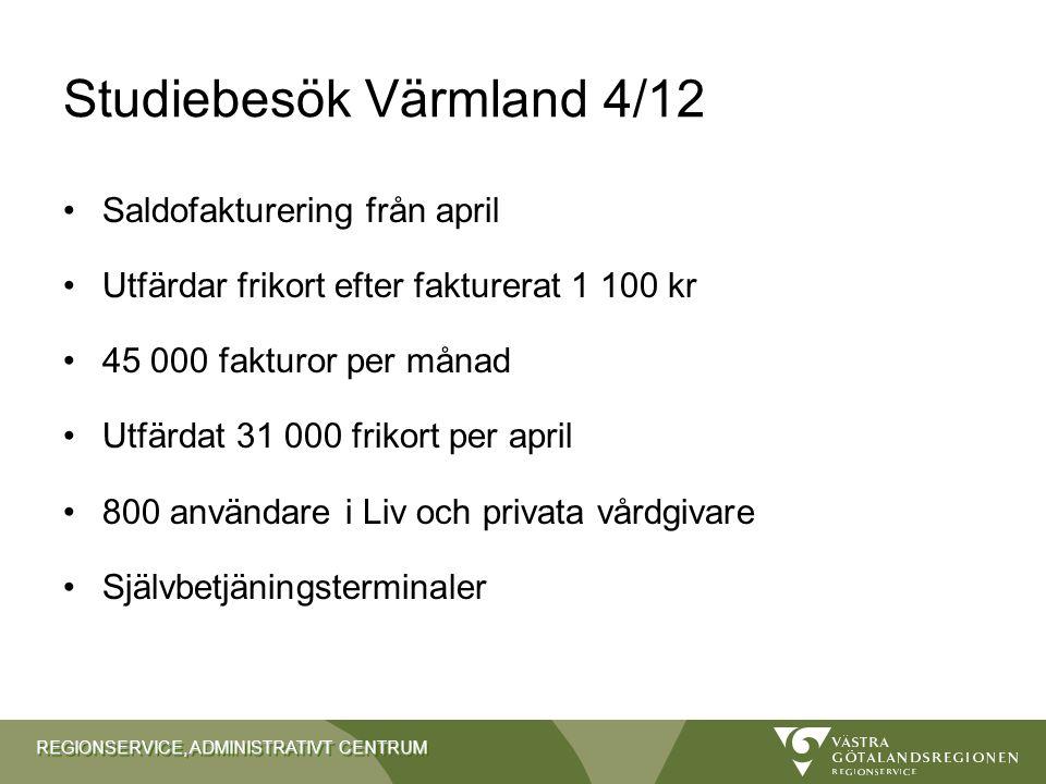 Studiebesök Värmland 4/12