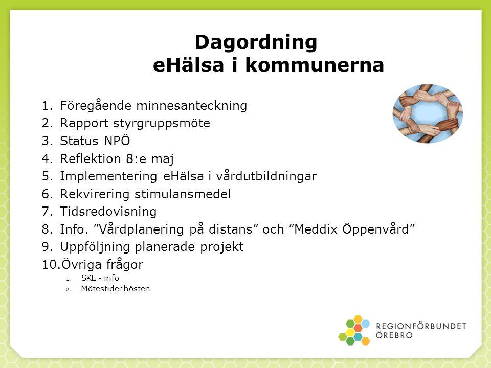 Dagordning eHälsa i kommunerna