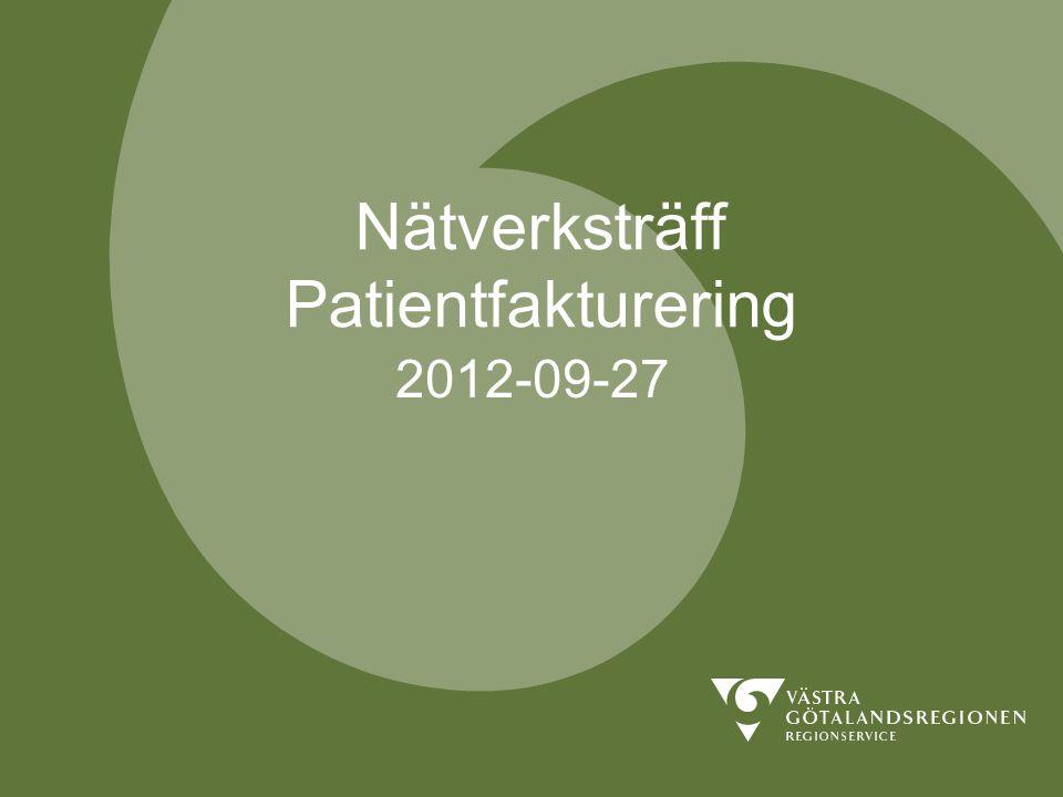 Nätverksträff Patientfakturering
