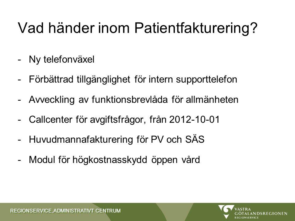 Vad händer inom Patientfakturering