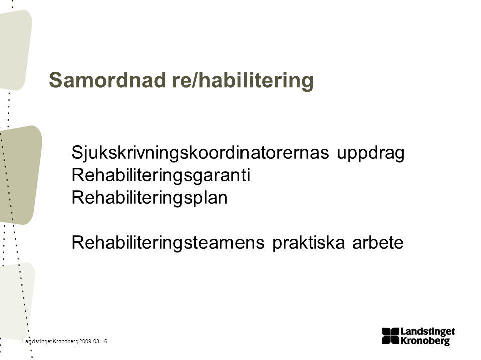 Samordnad re/habilitering