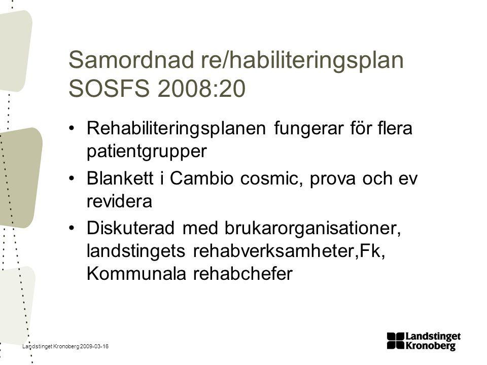 Samordnad re/habiliteringsplan SOSFS 2008:20