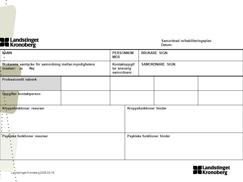 Samordnad re/habiliteringsplan