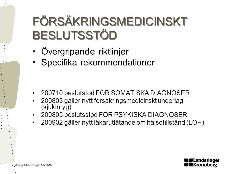 FÖRSÄKRINGSMEDICINSKT BESLUTSSTÖD