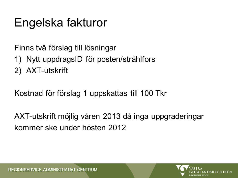 Engelska fakturor Finns två förslag till lösningar