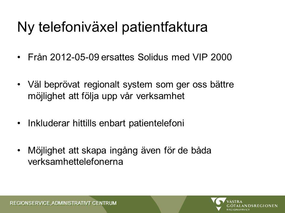 Ny telefoniväxel patientfaktura