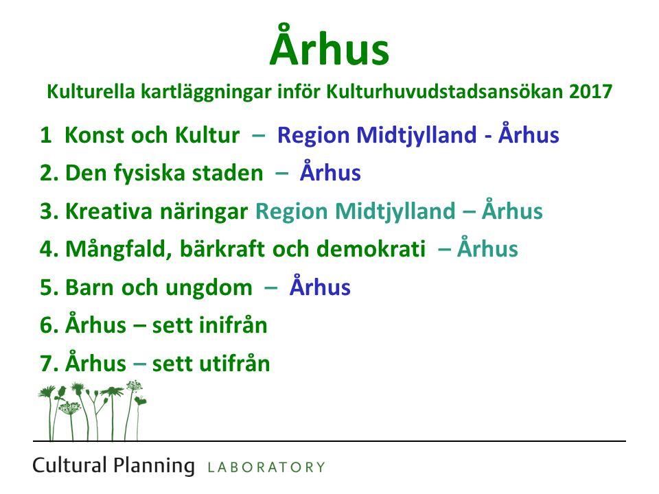 Århus Kulturella kartläggningar inför Kulturhuvudstadsansökan 2017