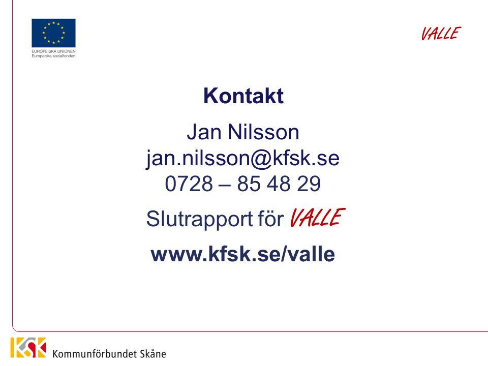 Kontakt Jan Nilsson jan.nilsson@kfsk.se 0728 – 85 48 29