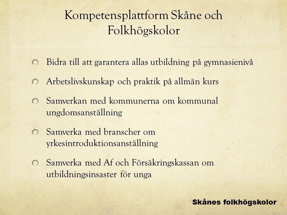 Kompetensplattform Skåne och Folkhögskolor