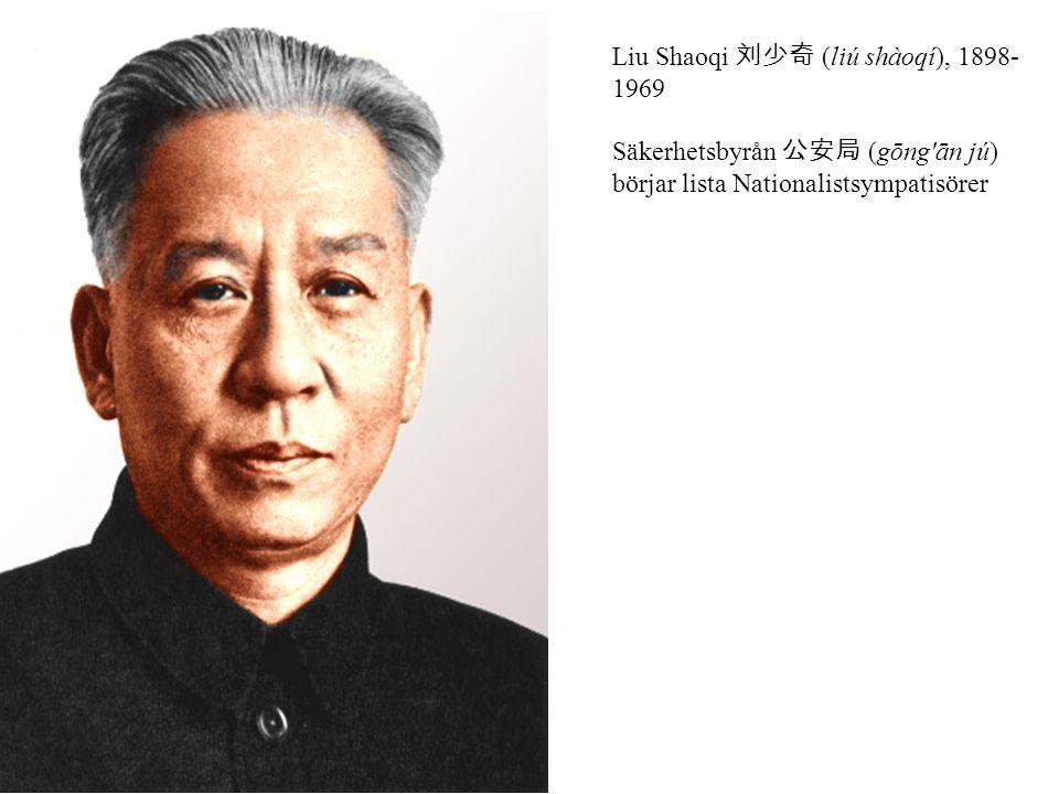 Liu Shaoqi 刘少奇 (liú shàoqí), 1898-1969