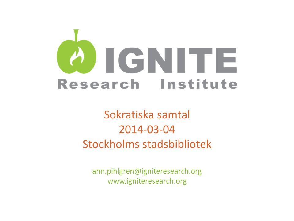 Sokratiska samtal 2014-03-04 Stockholms stadsbibliotek