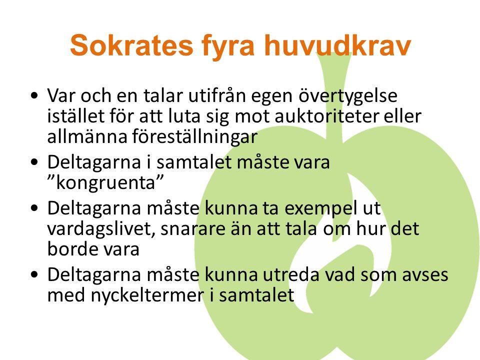 Sokrates fyra huvudkrav