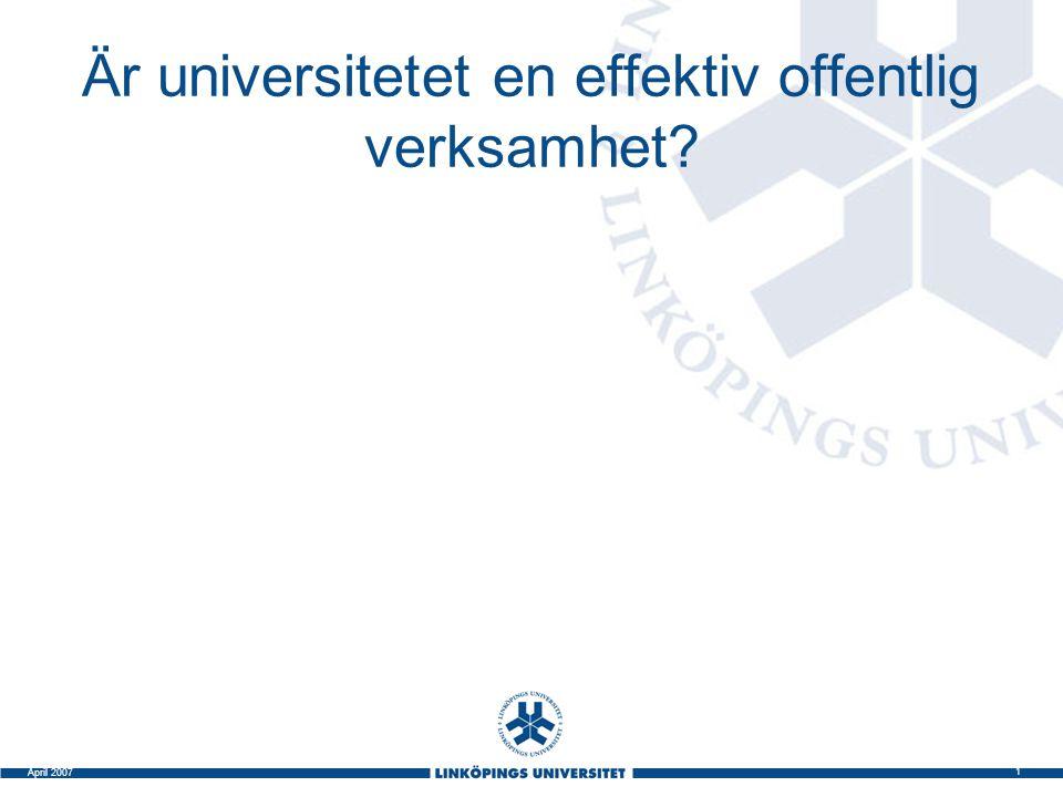 Är universitetet en effektiv offentlig verksamhet