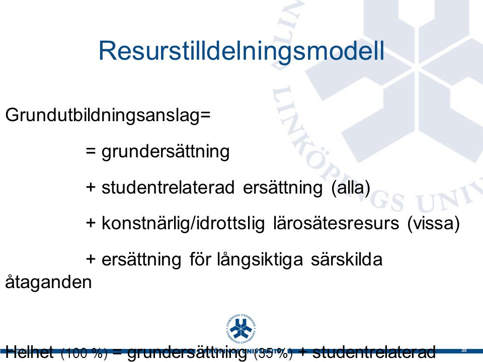 Resurstilldelningsmodell