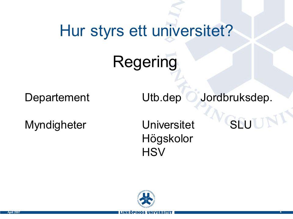 Hur styrs ett universitet