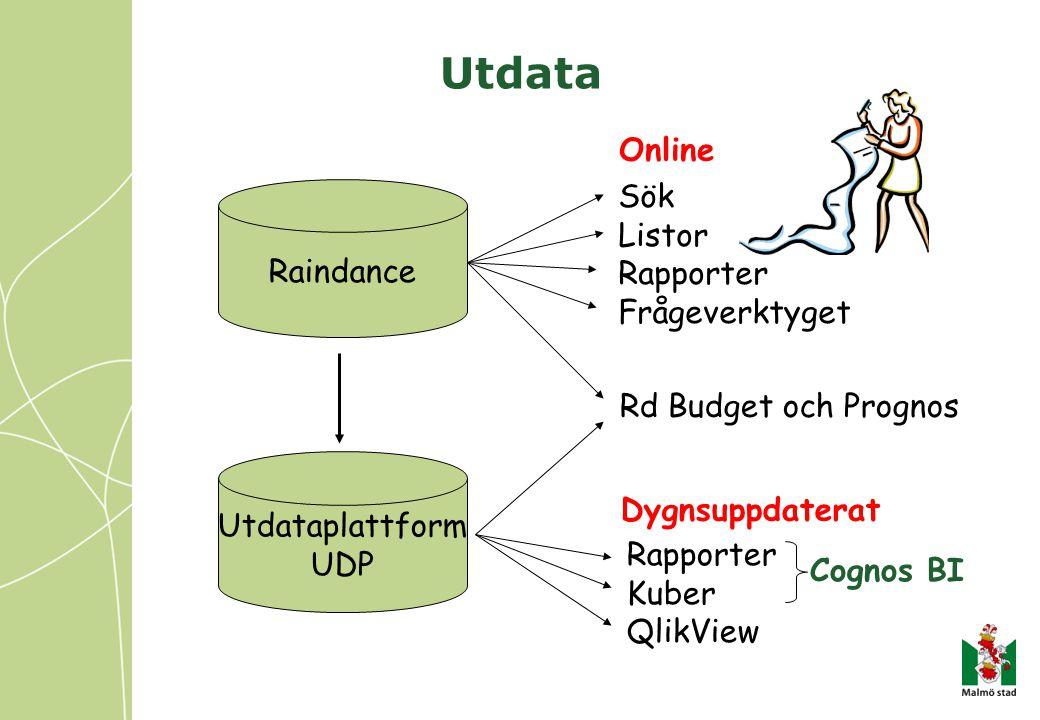 Utdata Online Sök Listor Raindance Rapporter Frågeverktyget