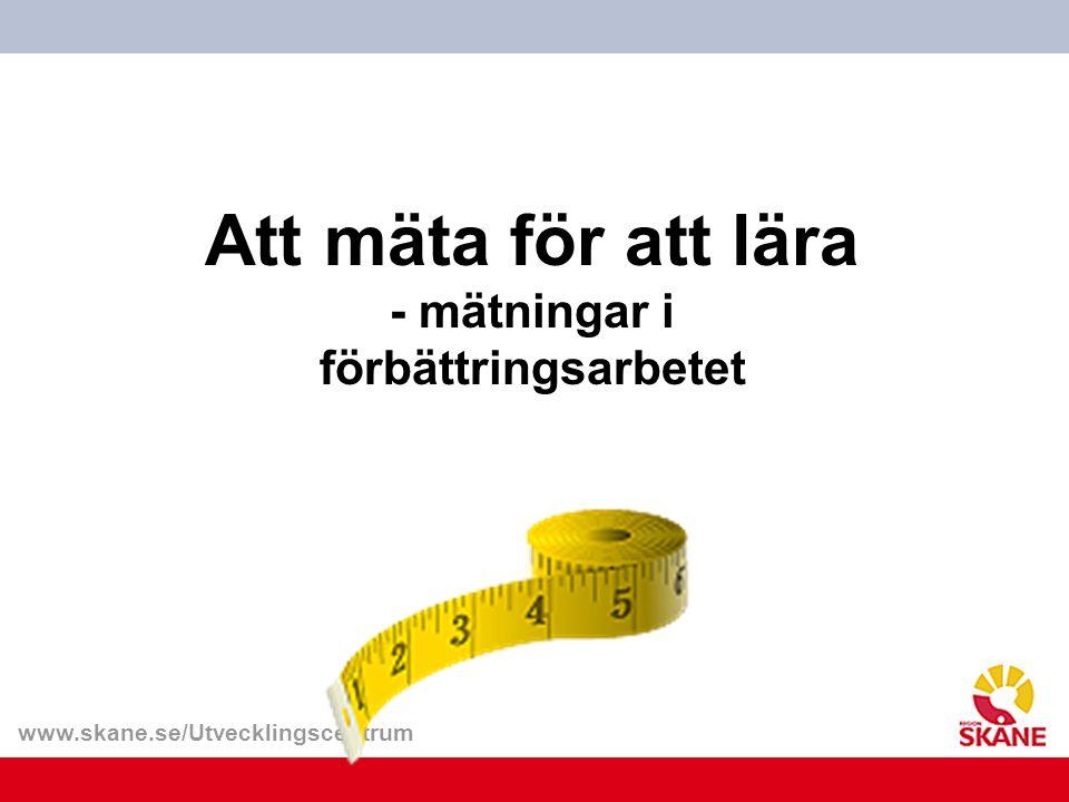 Att mäta för att lära - mätningar i förbättringsarbetet