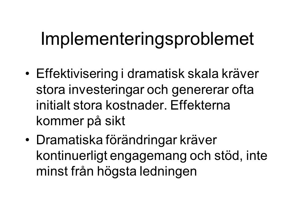 Implementeringsproblemet