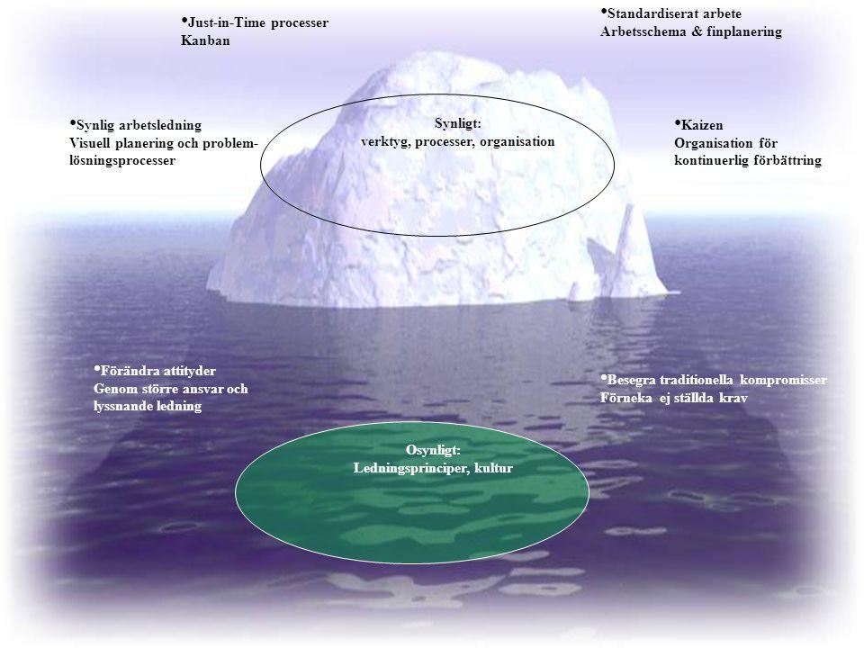 Ledningsprinciper, kultur verktyg, processer, organisation