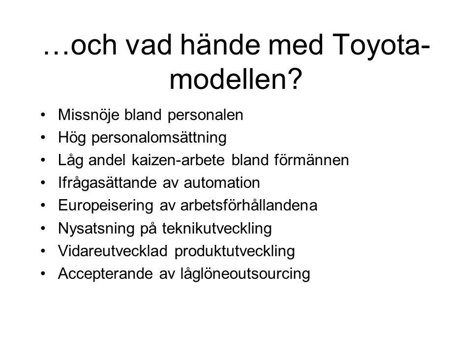 …och vad hände med Toyota-modellen
