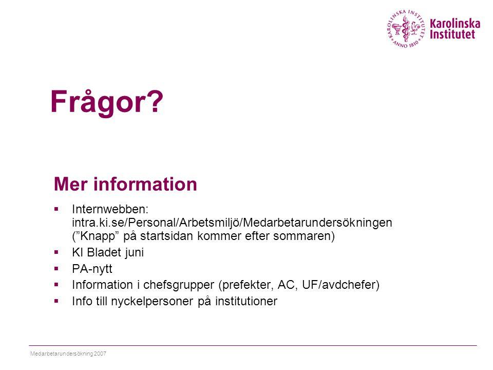 Frågor Mer information