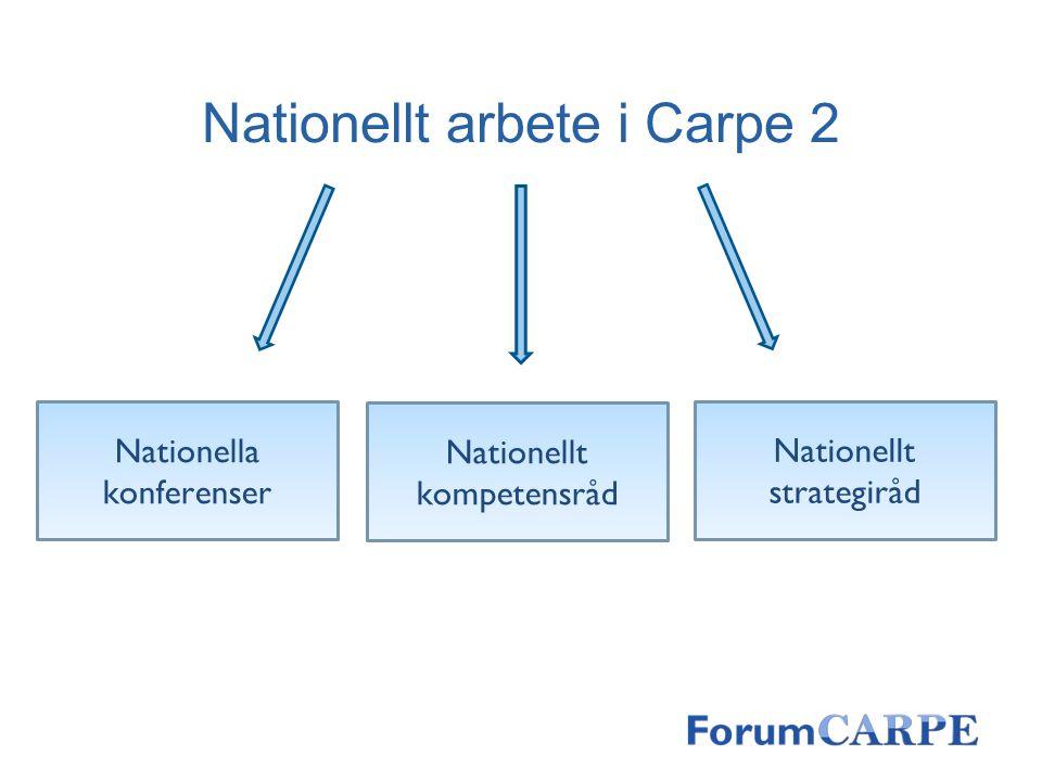 Nationellt arbete i Carpe 2