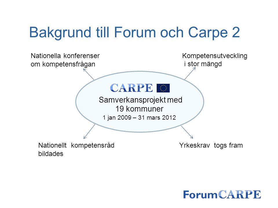 Samverkansprojekt med 19 kommuner 1 jan 2009 – 31 mars 2012