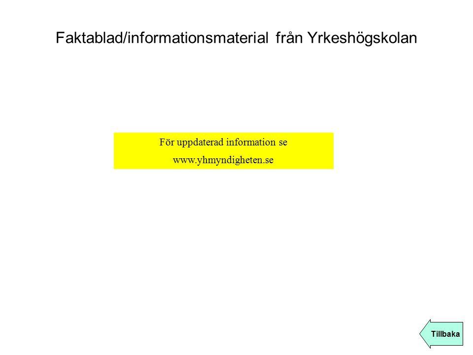 Faktablad/informationsmaterial från Yrkeshögskolan
