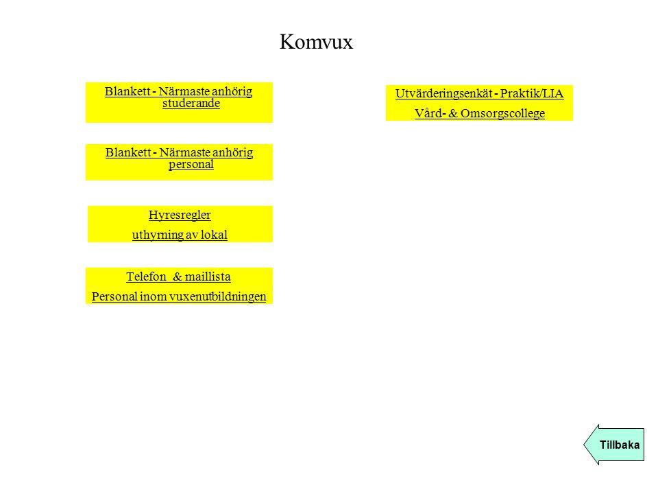 Komvux Blankett - Närmaste anhörig studerande
