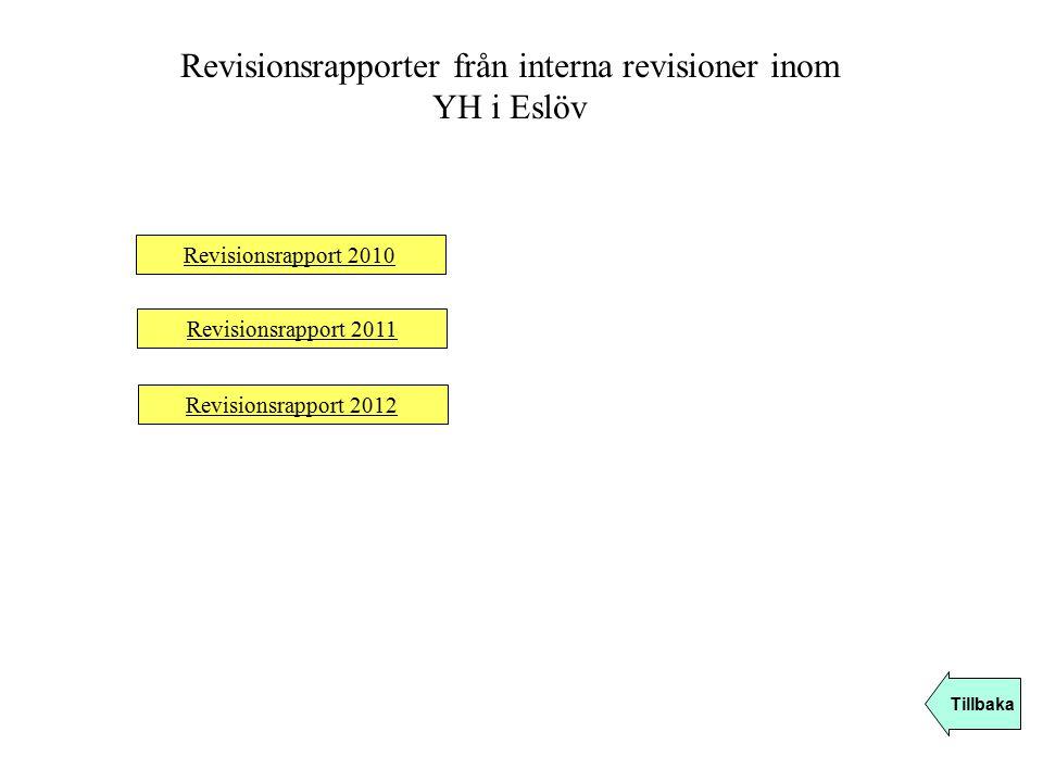 Revisionsrapporter från interna revisioner inom YH i Eslöv