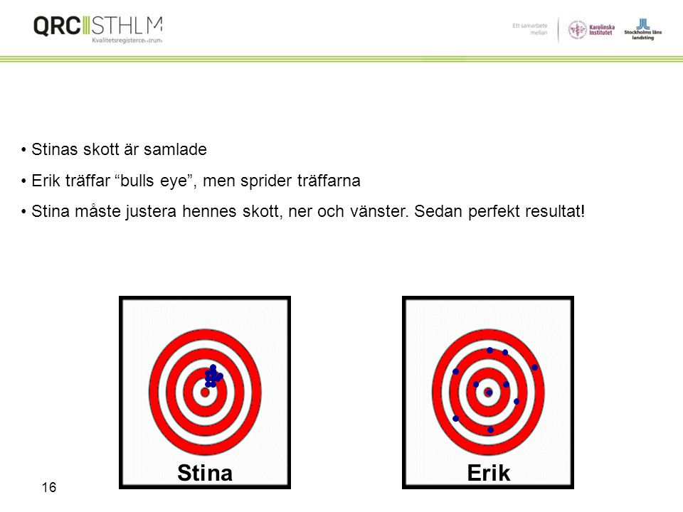 Variation Stina Erik Stinas skott är samlade