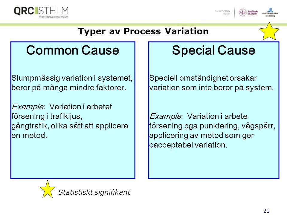 Typer av Process Variation