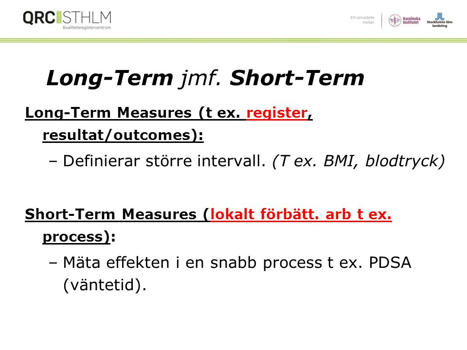Long-Term jmf. Short-Term
