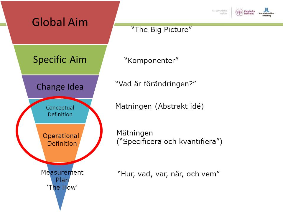 Global Aim Specific Aim Change Idea The Big Picture Komponenter