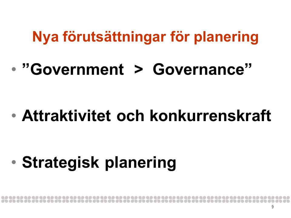 Nya förutsättningar för planering
