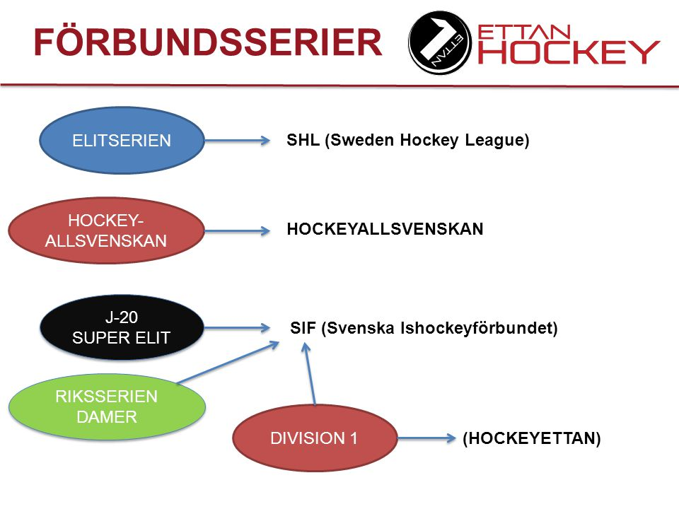 FÖRBUNDSSERIER ELITSERIEN SHL (Sweden Hockey League)