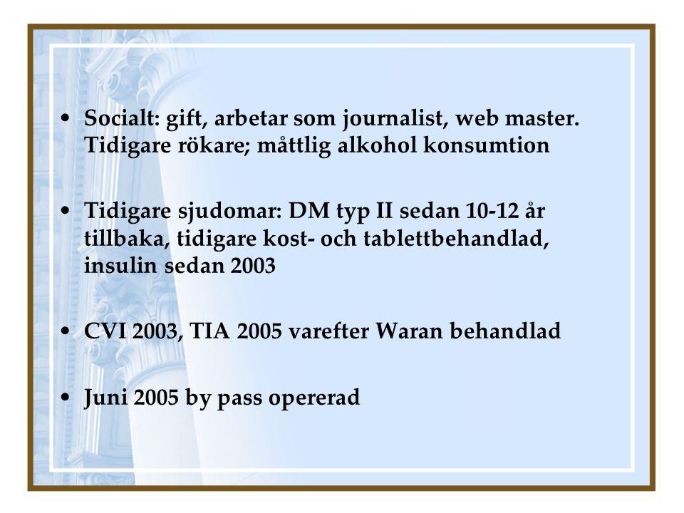 Socialt: gift, arbetar som journalist, web master