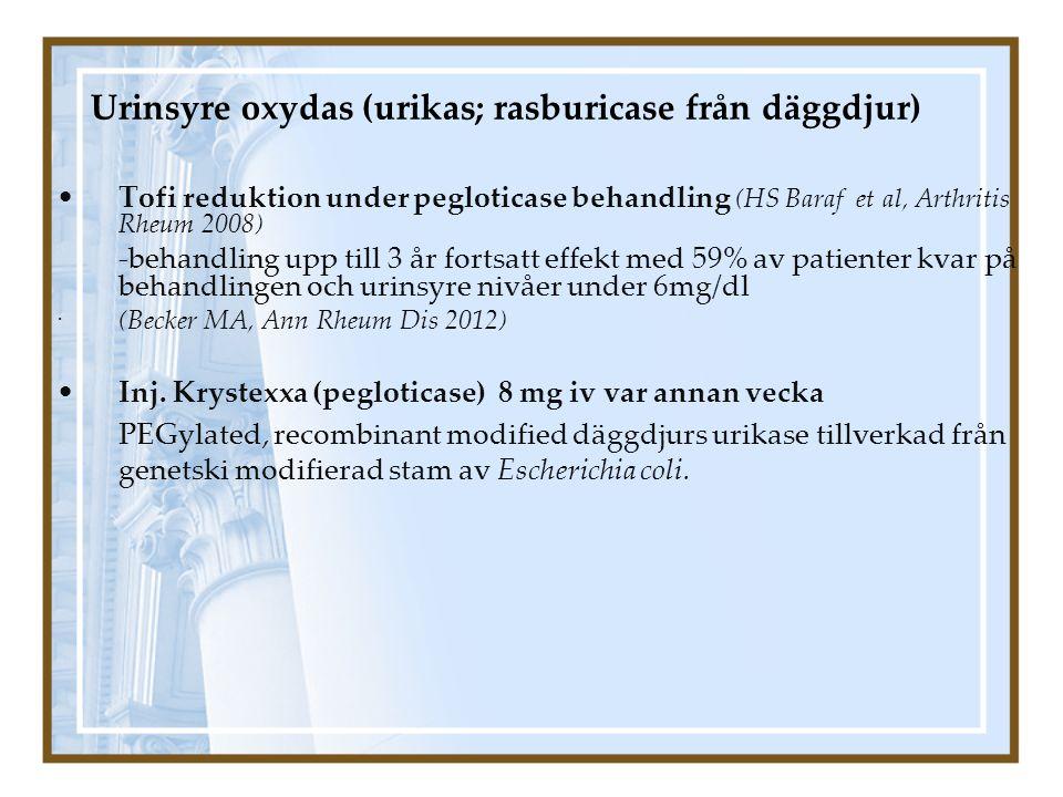 Urinsyre oxydas (urikas; rasburicase från däggdjur)