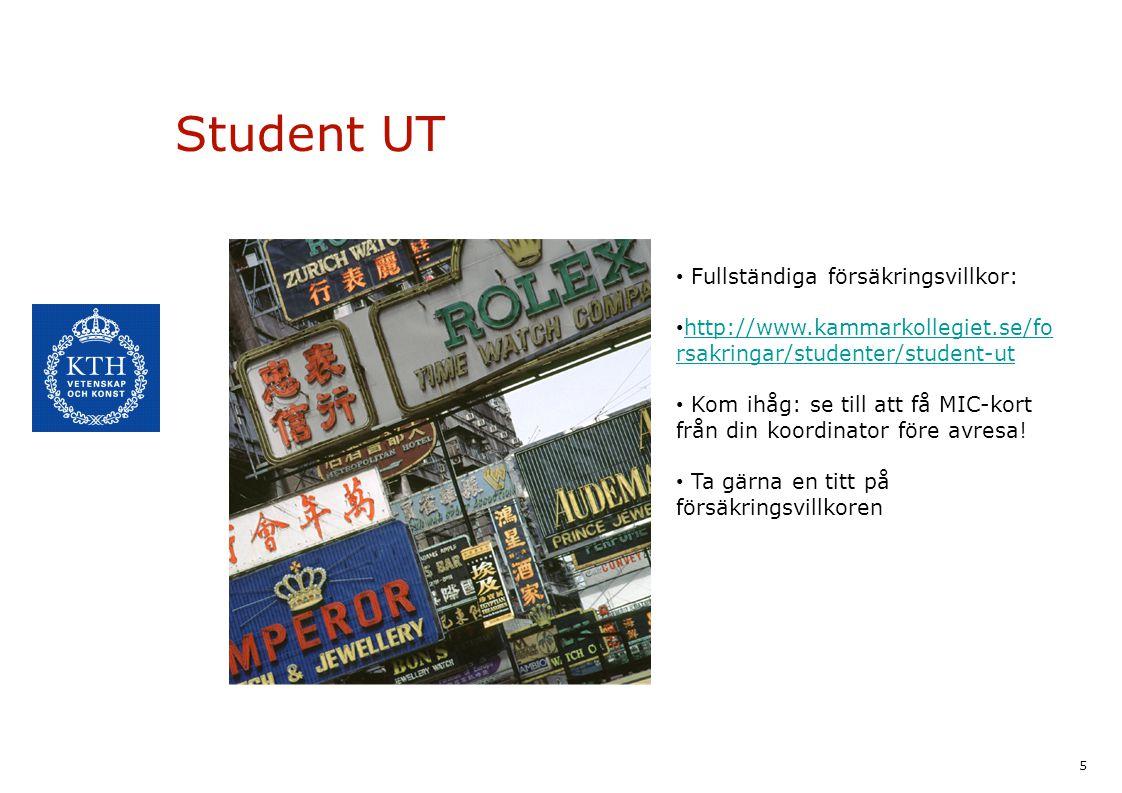 Student UT Fullständiga försäkringsvillkor: