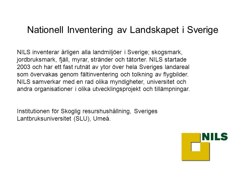 Nationell Inventering av Landskapet i Sverige