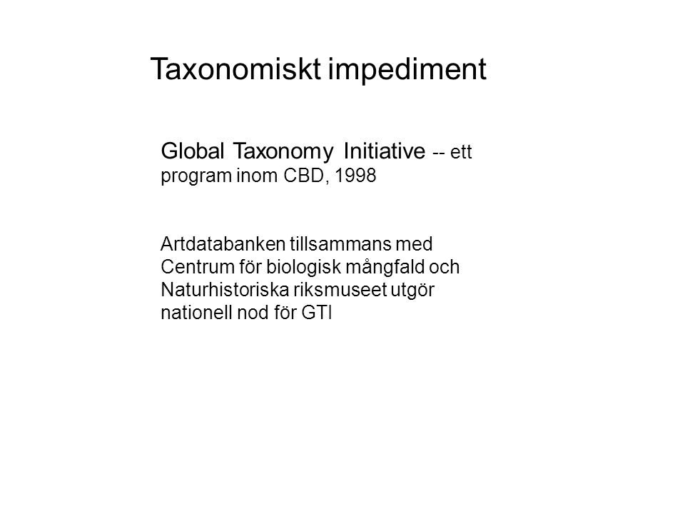 Taxonomiskt impediment