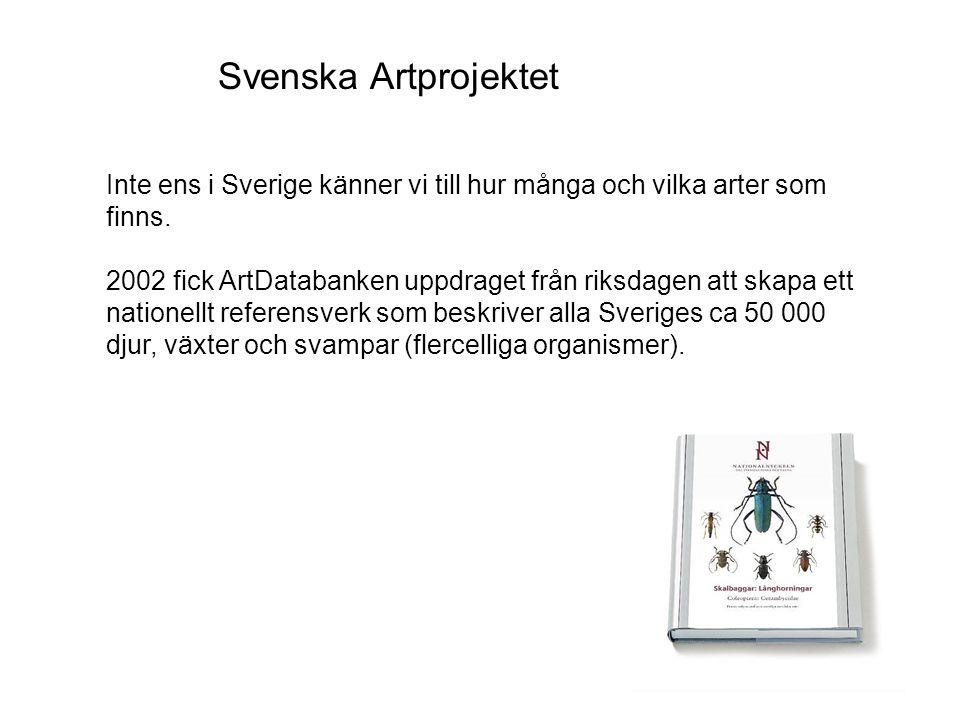 Svenska Artprojektet Inte ens i Sverige känner vi till hur många och vilka arter som finns.