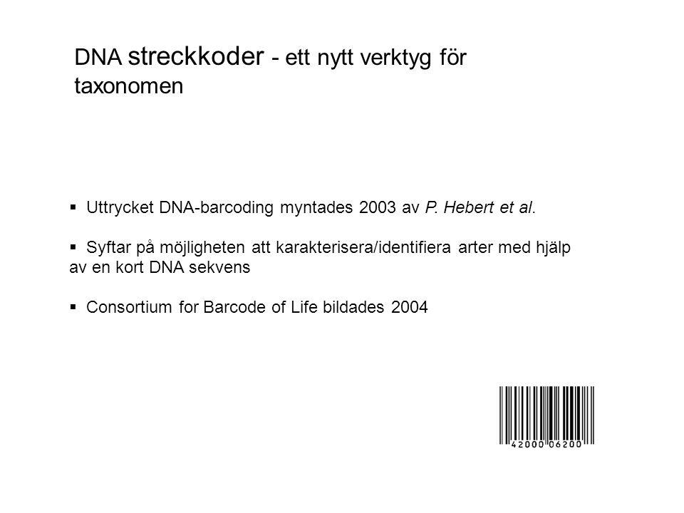 DNA streckkoder - ett nytt verktyg för taxonomen
