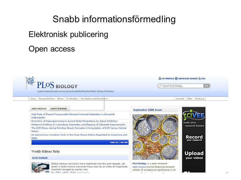 Snabb informationsförmedling
