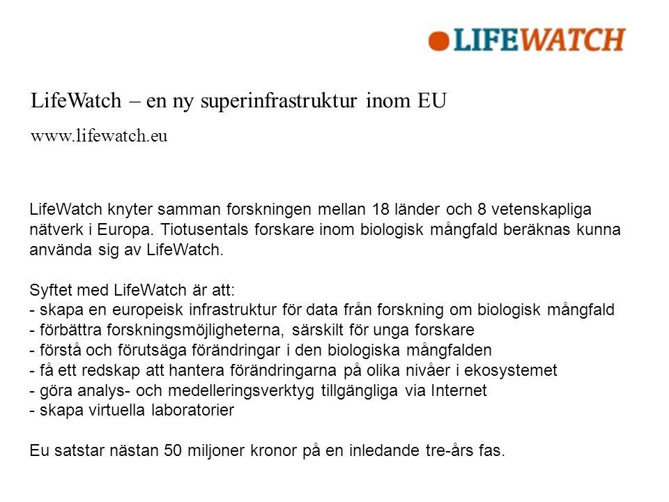 LifeWatch – en ny superinfrastruktur inom EU