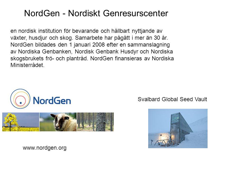 NordGen - Nordiskt Genresurscenter
