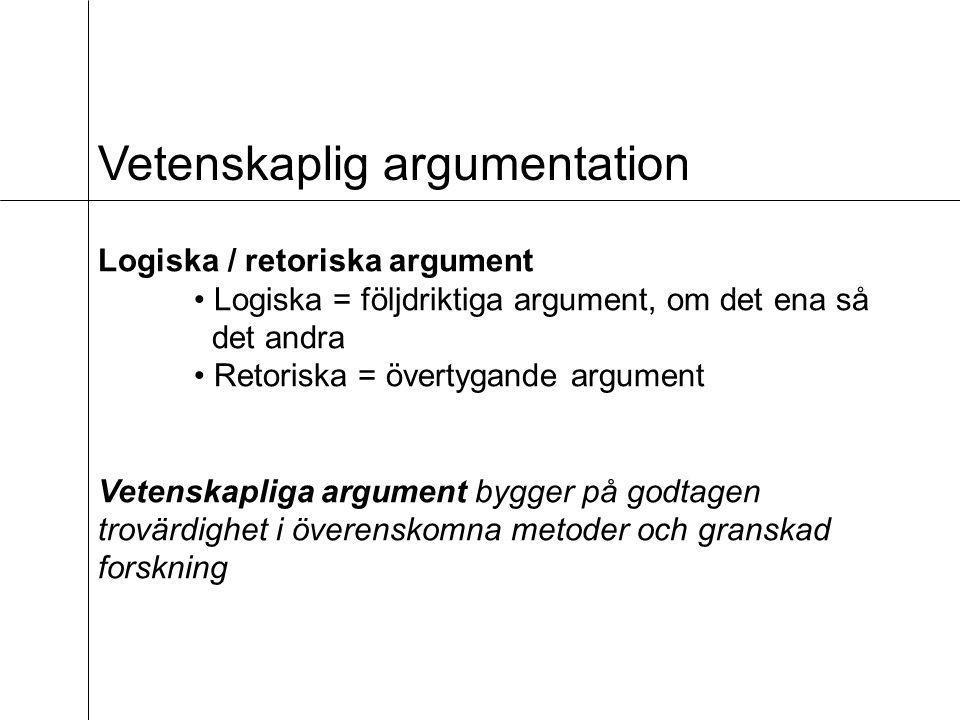 Vetenskaplig argumentation