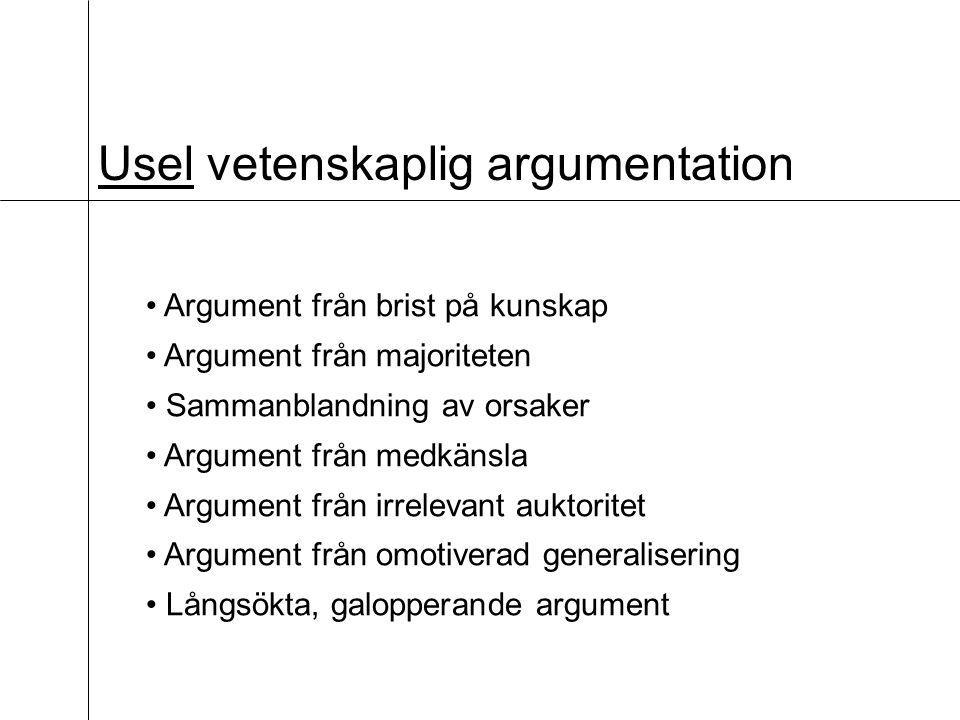 Usel vetenskaplig argumentation