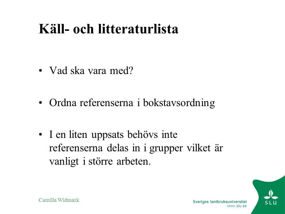 Käll- och litteraturlista
