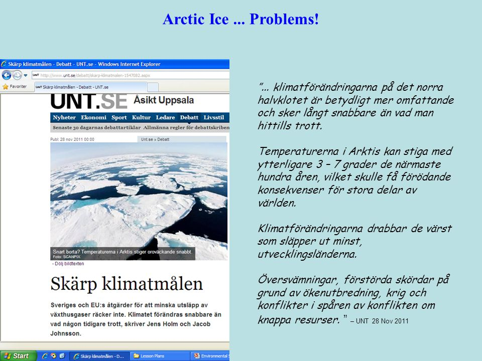 Arctic Ice ... Problems!